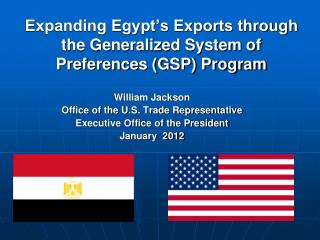 Expanding Egypt's Exports through the Generalized System of Preferences (GSP) Program