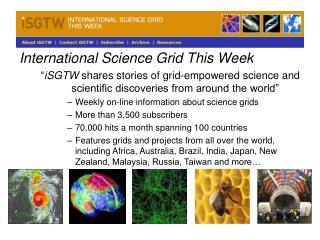 International Science Grid This Week