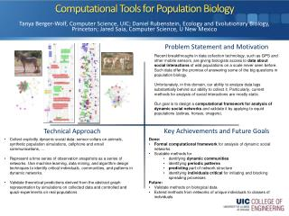 Computational Tools for Population Biology