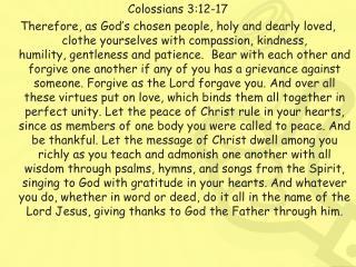 Colossians 3:12-17