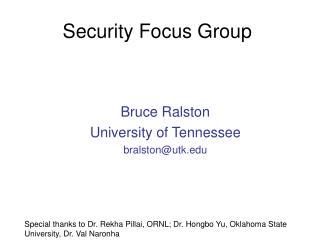 Security Focus Group