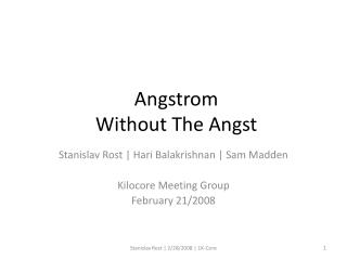 Angstrom  Without The Angst