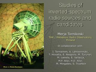 Studies of inverted-spectrum radio sources and candidates