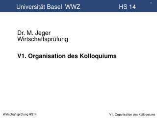 Universität Basel WWZ      HS  14