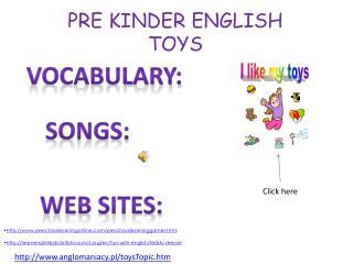 PRE KINDER ENGLISH TOYS