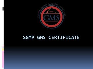 SGMP GMS Certificate