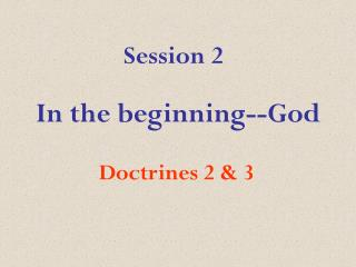 In the beginning--God