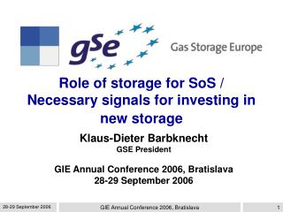 Role of storage for SoS / Necessary signals for investing in new storage