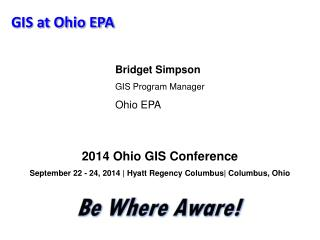 GIS at Ohio EPA