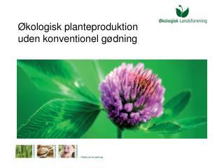 Økologisk planteproduktion  uden konventionel gødning