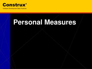 Personal Measures
