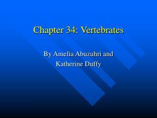 Chapter 34: Vertebrates