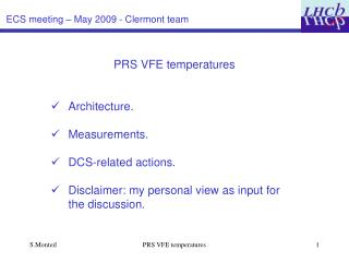 ECS meeting – May 2009 - Clermont team