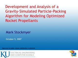 Mark Stockmyer October 5, 2007