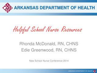 Helpful School Nurse Resources