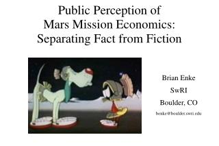 Public Perception of Mars Mission Economics: Separating Fact from Fiction