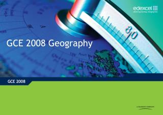 GCE 2008 Geography