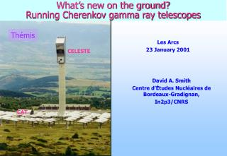 What's new on the ground? Running Cherenkov gamma ray telescopes