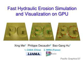 Fast Hydraulic Erosion Simulation and Visualization on GPU
