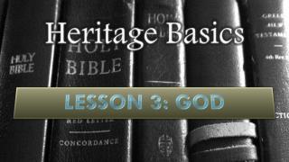 Heritage Basics