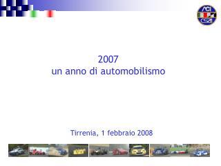 Tirrenia, 1 febbraio 2008