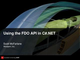 Using the FDO API in C#.NET