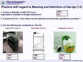 Practice with regard to Meaning and Definition of Get-Up (1/2)