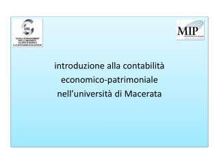 introduzione alla contabilit� economico-patrimoniale