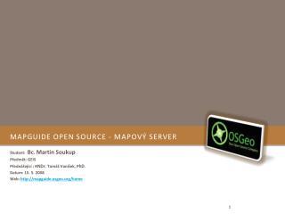 MapGuide Open Source - Mapový server