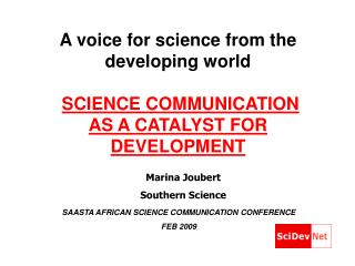 view presentation Ms Marina Joubert  Christina Scott