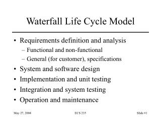 Waterfall Life Cycle Model