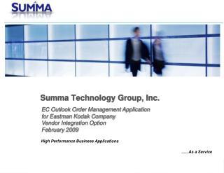 Summa Technology Group, Inc.
