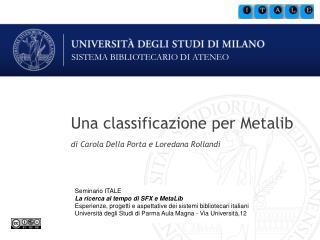 Una classificazione per Metalib
