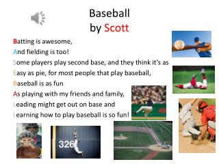 Baseball  by  Scott