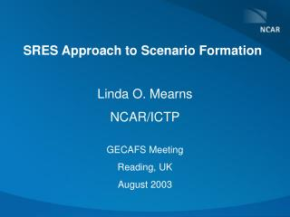 SRES Approach to Scenario Formation