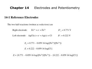 14-1 Reference Electrodes