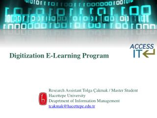 Digitization E-Learning Program