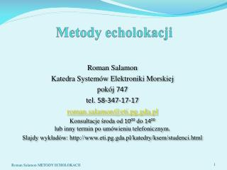 Metody echolokacji