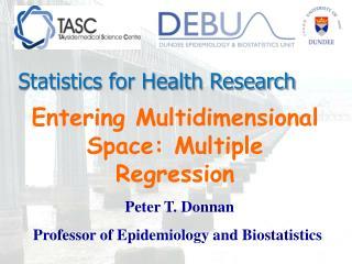 Entering Multidimensional Space: Multiple Regression