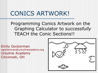 CONICS ARTWORK!