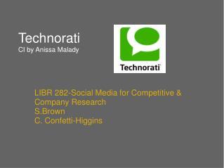 Technorati  CI by Anissa Malady