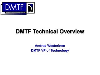 DMTF Technical Overview