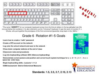 Grade 6  Rotation #1-5 Goals