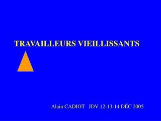 LE VIEILLISSEMENT AU TRAVAIL
