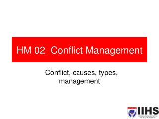 HM 02  Conflict Management
