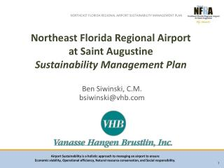 Northeast Florida Regional Airport  at Saint Augustine  Sustainability Management Plan