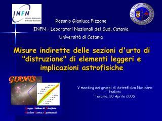 V meeting dei gruppi di Astrofisica Nucleare Italiani Teramo, 20 Aprile 2005