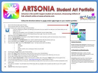 ARTSONIA  Student Art Portfolio