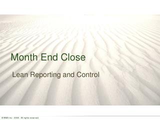 Month End Close