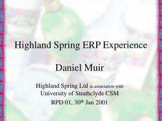 Highland Spring ERP Experience
